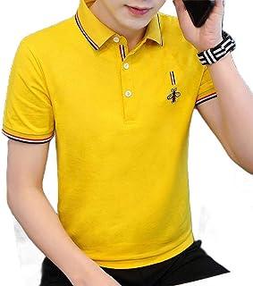 Macondoo Men's Short Sleeve Summer Color Block Polo Shirt Casual T-Shirts
