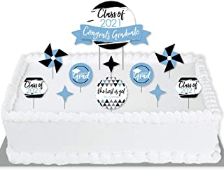 Big Dot of Happiness Light Blue Grad - Best is Yet to Come - 2021 Light Blue Graduation Party Cake Decorating Kit - Congra...