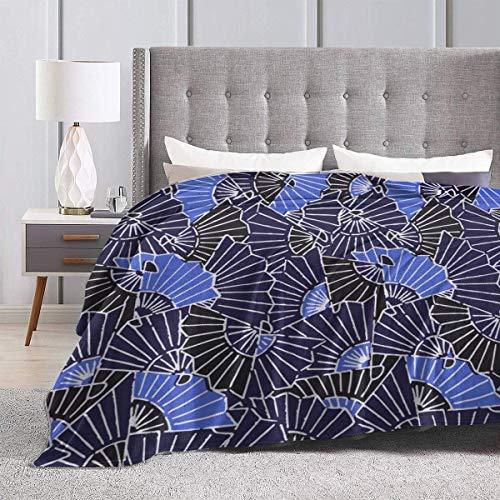 Manta de terciopelo de felpa, abanico azul, alfombra de lana al aire libre, sofá de coche para hombres, cómoda alfombrilla para dormir, funda de franela para todas las estaciones, 50x40 pulgadas