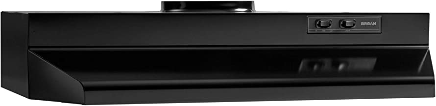Broan-NuTone 423023 Range Hood Insert with Light, Exhaust Fan for Under Cabinet, Black, 6.0 Sones, 190 CFM, 30""