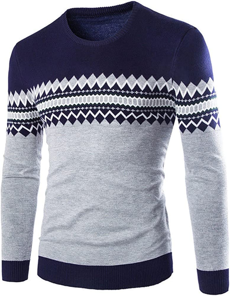 NP Autumn Max 43% OFF Winter Neck Men Slim Pull Fit Ho Homme Knitted Sweater Max 42% OFF