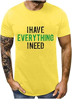 Men Couples O-neck Short Sleeve Tops, Male Letter Printed T-shirt Blouse Pullover Top