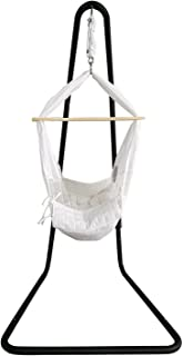 BHORMS Baby Hammock Swing Baby Cradle Swing Crib with Stand Hanging Bassinet for Baby Nursery Newborn Infants, Measures 31.5