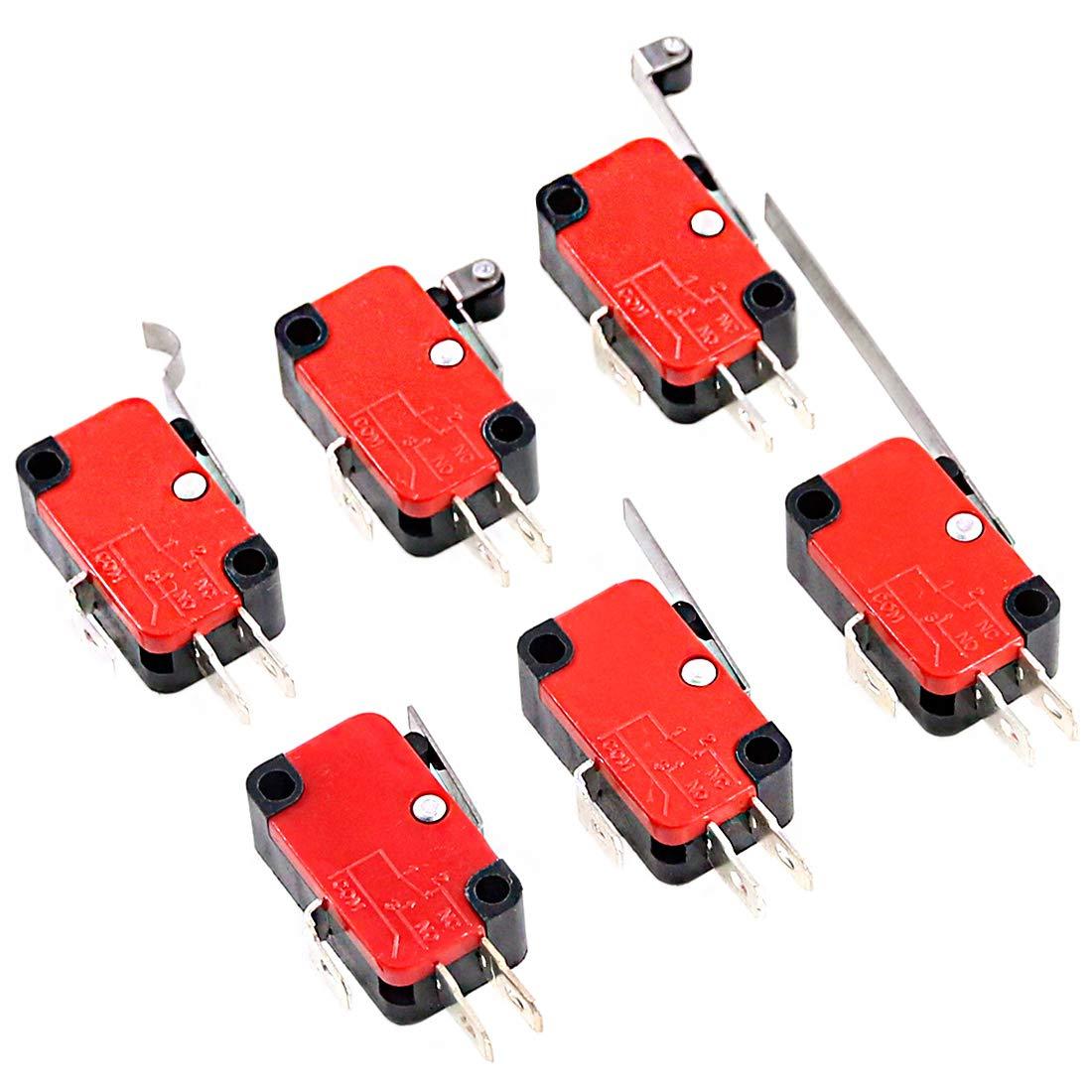 Swpeet 10Pcs V-151-1C25 Micro Selling Limit Long Mom Portland Mall Hinge Switch Roller