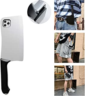 ZYAO 3D Funny Kitchen Knife Phone Case Cuchillo de Cocina Creativo Frosted Phone Case La autodefensa de Las Enfermeras para iPhone 11 / 11pro / 11pro MAX/X/XS (Plata, para iPhone 11 Pro)