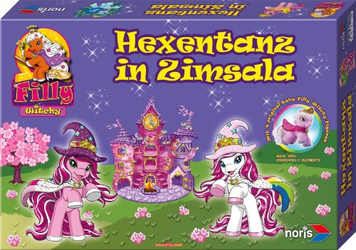 Noris 606011100 - Filly Witchy Spiel, Hexentanz in Zimsala, Kinderspiel