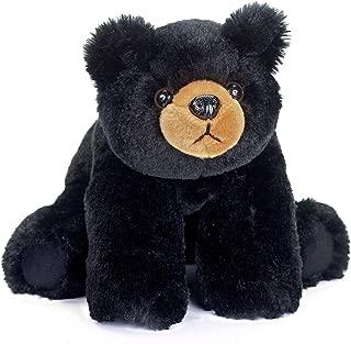 Bearington Baby Bandit Plush Stuffed Animal Black Bear Teddy, 12.5