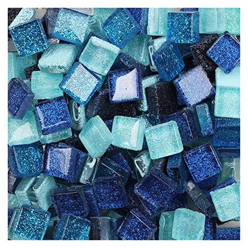 SKVVIDY Teselas 100 g de Brillo Brillante Mosaico de Cristal Azulejos 1 cm Cuadrado vs Forma Irregular Bricolaje Mosaico Mosaico Multicolor Manualidades Opcionales Materiales Mosaico Ceramica