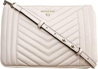 MICHAEL KORS Womens Large Double Pouch Xbody Bag, Light Cream - 32H9LT9C9T