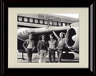 Framed Led Zeppelin Autograph Replica Print