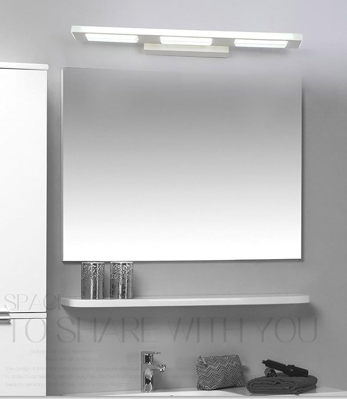 Frontspiegelleuchten Spiegelfrontlicht führte wasserdichte Anti-Fog-Badezimmerbadezimmerspiegel-Wandlampe Europisches einfaches modernes unbedeutendes Knopfkabinettlicht führte helles rechteckiges ( Farbe   Warm light-6W )