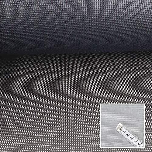 www.aktivstoffe.de (23,99€/m) Seat Gard - Bezugsstoff für Gartenmöbel - Schimmelbeständig, Wasserdurchlässig, Windbremsend, Schwerentflammbar, Reissfest (Schwarz/Anthrazit)