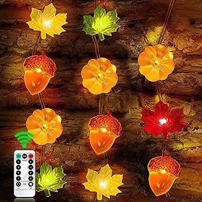 3 Pack Thanksgiving Decoration Lights, 3D Pumpk...
