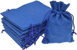 Bezall 20pcs Drawstring Burlap Jute Sacks Jewelry Candy Pouch Christmas Wedding Party Favor Gift Bags (Royal Blue, 5.9 x 7.5