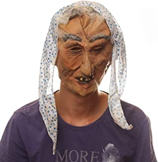 WNGCAR AU Halloween Party Party Witch Strange Old Lady Latex mask Witch mask