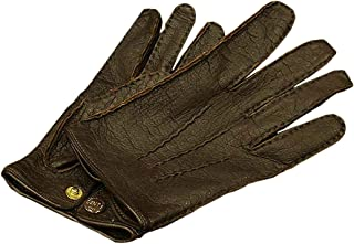 DENTS(デンツ) 15-1043 [ BARK/バーク ] ペッカリー (猪豚革) レザーグローブ(革手袋) [並行輸入品]