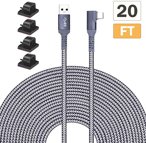 Tanzfrosch 20FT 6M Nylon Braided Link Cable for Oculus Quest 2 Quest 1 VR Headset USB 3 0 Type product image