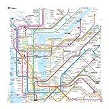 Vintage Tubo de metro de Ciudad de Nueva York Metro mapa manta funda de almohada sofá cama decoración del hogar funda de cojín 18x 18(doble lados) con cremallera