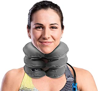 Cervical Neck Traction Device for Instant Neck Pain Relief, Inflatable Adjustable Neck Stretcher Neck Support Brace, Best ...