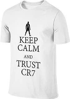 Hengteng Men Designed Breathable Tee Keep Calm and Trust CR7 Cristiano Ronaldo T-Shirt