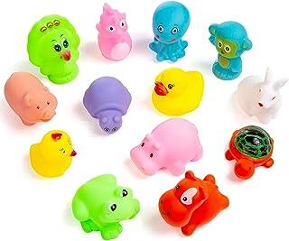 comprar comparacion ZWOOS Juguetes de baño, 13pcs Kids Juguetes de Baño Flotante Animales Squirters Juguetes, Natación Bañera Bebé Baño Juguet...