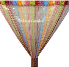 TRIXES String Dew Drop Curtain -Glitter Thread Multicoloured - Door or Window Panel 90 x 200cm Perfect as Fly Screen
