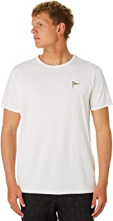 Banks Men's Archer Mens Tee Crew Neck Short Sleeve Cotton Polyester White