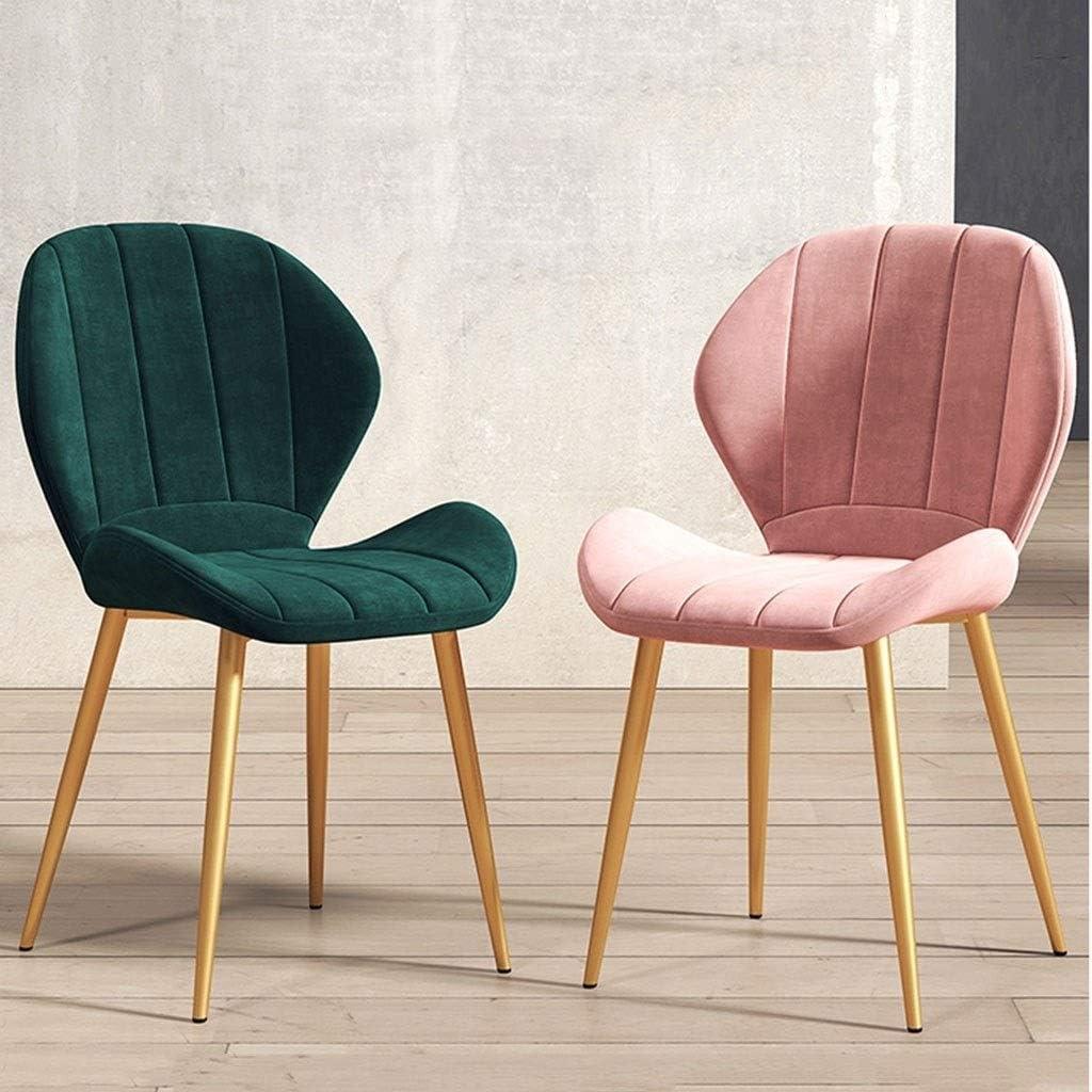 WWL CHAISES Surface en Cuir Moderne Simple Éponge Haute Densité Lumière Chaise Longue Chaise Bureau Conférence Chaises Cuisine Chaise Rembourrée de Cuisine (Color : A) F