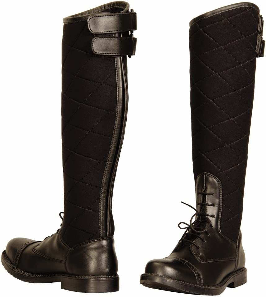 Max 81% OFF TuffRider Los Angeles Mall Ladies Alpine Quilted Field Synthetic Boots in Leather