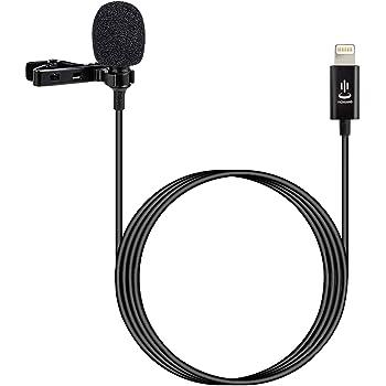 VILTROX コンデンサーマイク クリップ式 ピンマイク 高音質 マイクロフォン クリップ式マイクiPhone専用 iPhone 7/7 plus /8/8 plus iPhone X/XS/iPhone11/iPhone11pro対応 カラオケ/音楽録音/撮影/インタビュー/チャットに適用