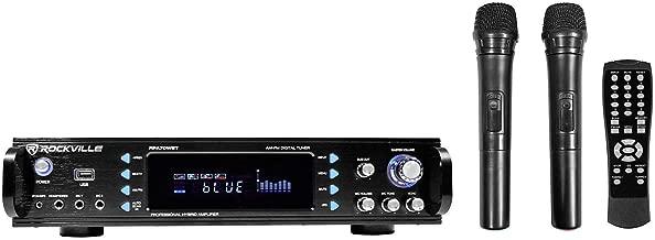 Rockville RPA70WBT 1000w 2-Ch USB Bluetooth Pro/Karaoke Amplifier/Mixer+(2) Mics, Black
