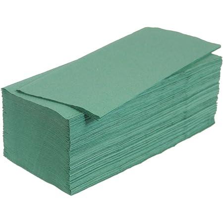 5000 Papierhandtücher 25x23 Cm Zz Falz Grün 1 Lg Papiertücher Küche Haushalt
