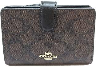 Coach Corner Zip Leather Wallet