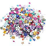 Rhinestones Acrylic Flatback Gems Glue Gemstone Embellishments Mix Size Mixed Shapes DIY Crafts Decoration Pack of 50g(Approx 250-300pcs)4-16mm(0.16-0.63inch) (Style 1)