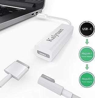 KaIyuan USB CからMag-Safeアダプター タイプC Mag-safe1 Mag-safe2 ノートパソコンアダプター 携帯電話やゲーム機などに対応 (ホワイト)