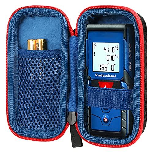 co2CREA Hard Custodia Borse Viaggio per Bosch Professional GLM 40 GLM 50C Distanziometro Laser(Nero Cerniera rossa)