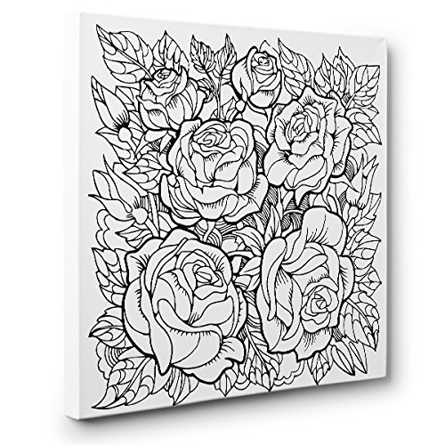 Roses Art Sale Topics on TV special price Therapy Coloring Decor Home Canvas