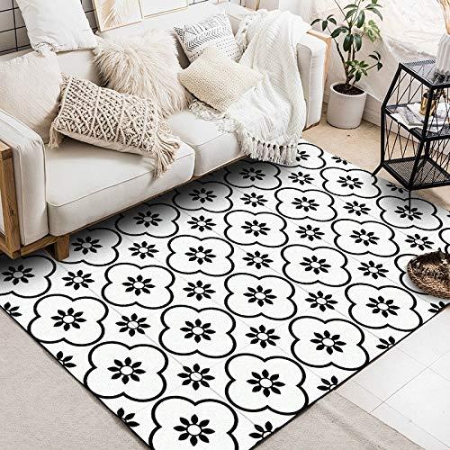 Carpet Antiskid Mats,Geometric Flower 3D Printed Carpets Living Room Bedroom Area Rugs Sofa Antiskid Mats, 39.3 X 51.2 Inch lihaihua