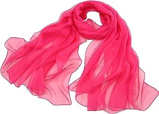 """Spring Air Women's 100% Silk Scarf, Long Magenta Fashion Wrap Headscarf 43X71"""""""