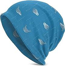 Blue Whale Mum and Baby with Bubbles Beanie Sombreros de Punto Gorras cálidas, elásticas y Suaves con Estilo