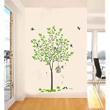 Decal O Decal Vinyl Birds Wall Door Fridge Sticker, 35.43 x 0.39 x 47.24 Inches, Multicolour
