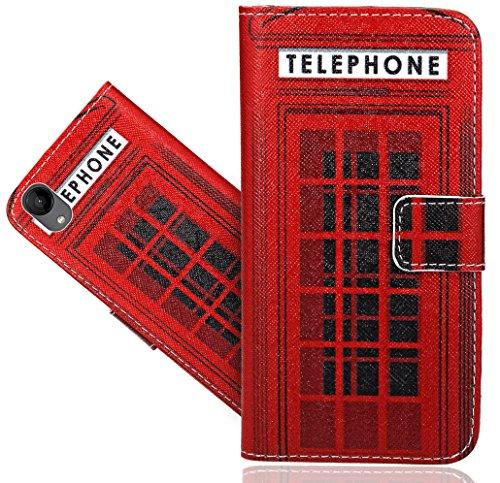 Wiko Sunny 2 Handy Tasche, FoneExpert® Wallet Hülle Flip Cover Hüllen Etui Hülle Ledertasche Lederhülle Schutzhülle Für Wiko Sunny 2