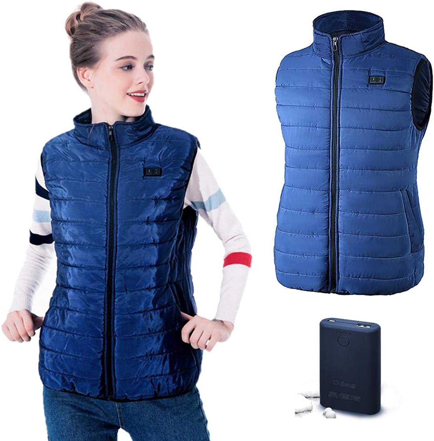 Fovolat  Women's Battery Heated Vest  USB Charging  Electric Thermal Vest  Insulated Jacket  for Snowmobile, Motorcycle, Camping, Hiking, Ski, Fishing  1pcs