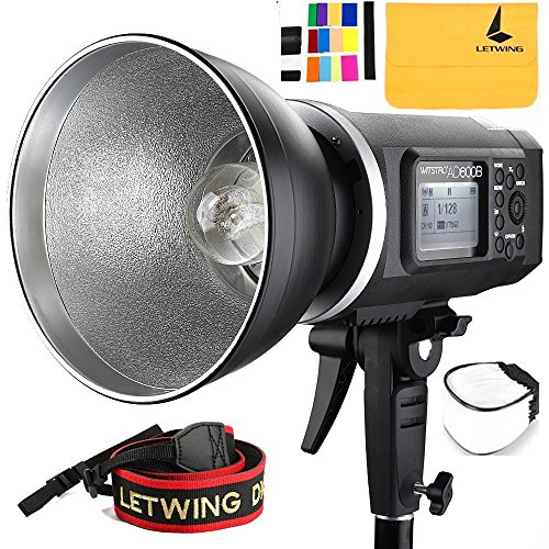 Godox AD600B TTL All-in-One Powerful Outdoor Flash with 2.4G X System Build-in 8700mAh Li-on Battery for DSLR Cameras (AD600B)