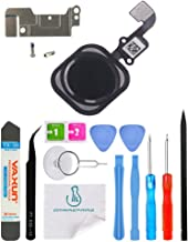 OmniRepairs Home Button Flex Cable Replacement with Rubber Gasket Compatible for iPhone 6s and iPhone 6s Plus with Screws (2) and Repair Toolkit (Black)