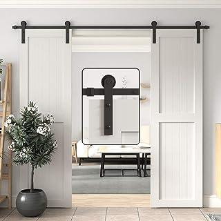 Best WINSOON Sliding Barn Door Hardware Double Door 10ft Track Kit for Interior Exterior Kitchen Cabinet Hallway Review
