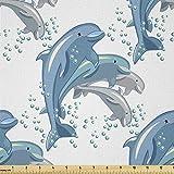 Lunarable Delphin Stoff von The Yard, Happy Delfine