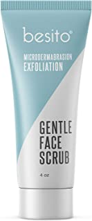 Microdermabrasion Face Scrub and Facial Exfoliator. Gentle Formula for Blackheads, Reducing Pore Size, Impr...