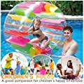 Eoeth Inflatable Roller Float, Colorful Water Wheel, Swimming Pool Roller Toy Kids Adults Children's Swim Rings Toys Games Outdoor Recreation Pool Rafts Inflatable Ride-ons