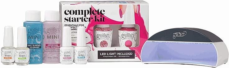 Gelish Mini Basix Gel Easy Soak Off LED Lamp Nail Polish Kit w/Color Set, 15 mL